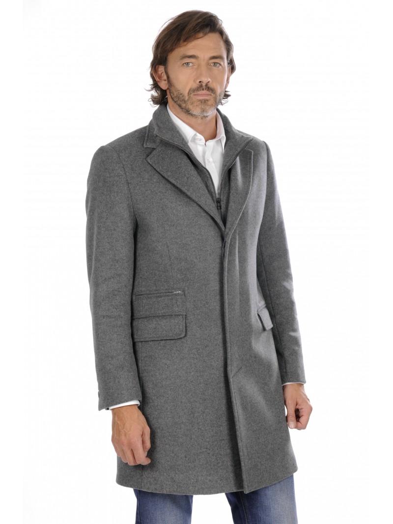 Manteau gris homme