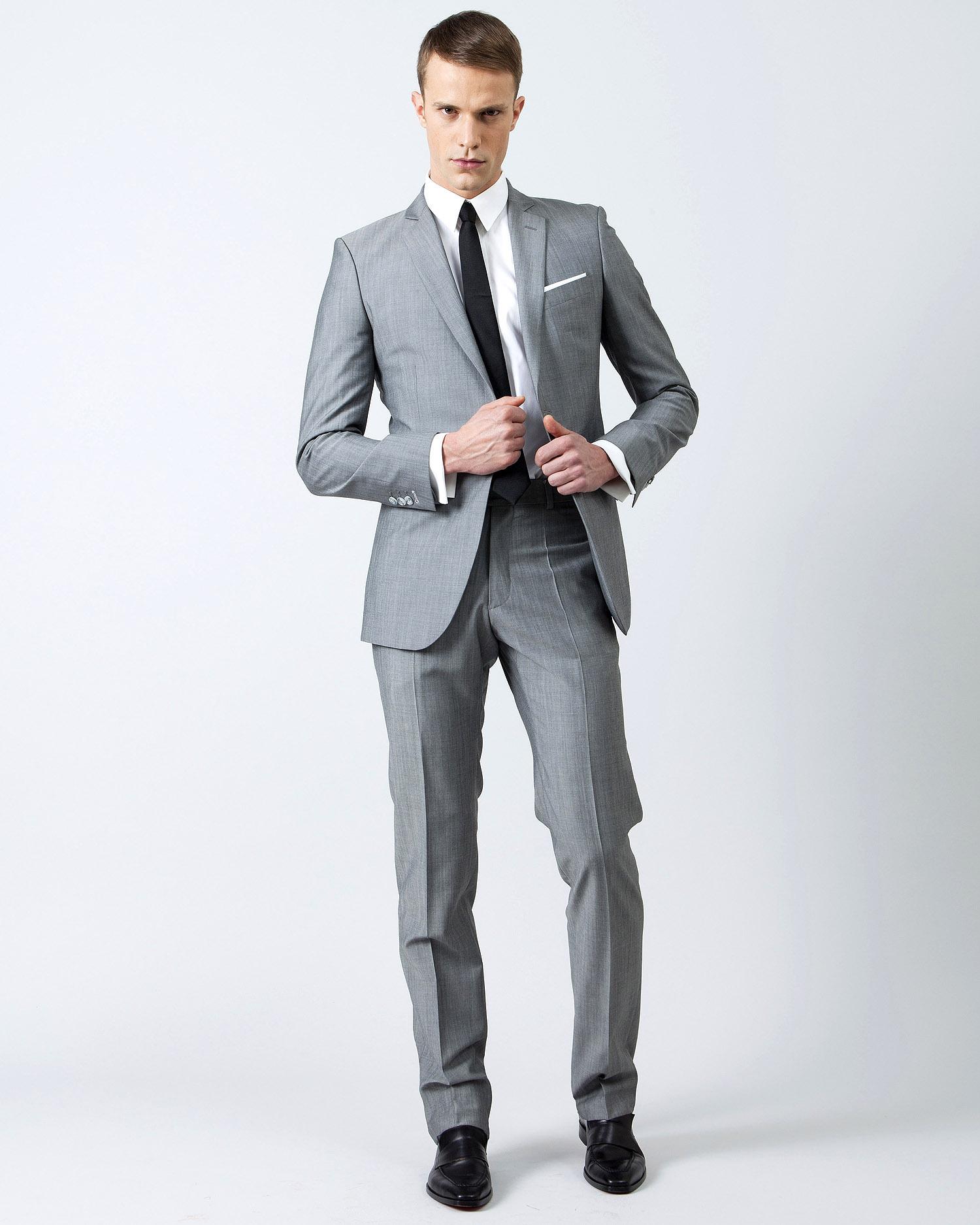 Costume 3 pièces gris moyen   Jean De Sey, costumes de mariage pour homme et 253398ced73c